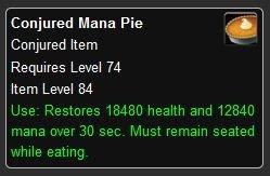 Conjured Mana Pie - World of Warcraft