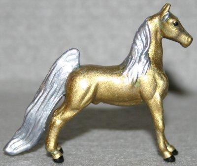 All That Glitters - Custom Breyer Mini Whinnie Show Pose Saddlebred Stallion - Right