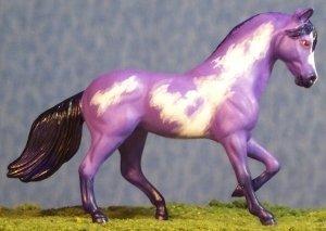 Nuvem Roxa - Breyer Stablemate Paso Fino - Purple Bay Frame Overo - Right