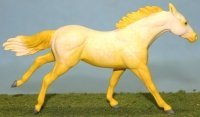 Sudden Digression - Custom Breyer Stablemate Thoroughbred - Yellow Going Gray - Thumbnail