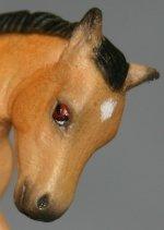 Jessie - Custom Breyer Stablemate G2 Scrambling Foal - Headshot