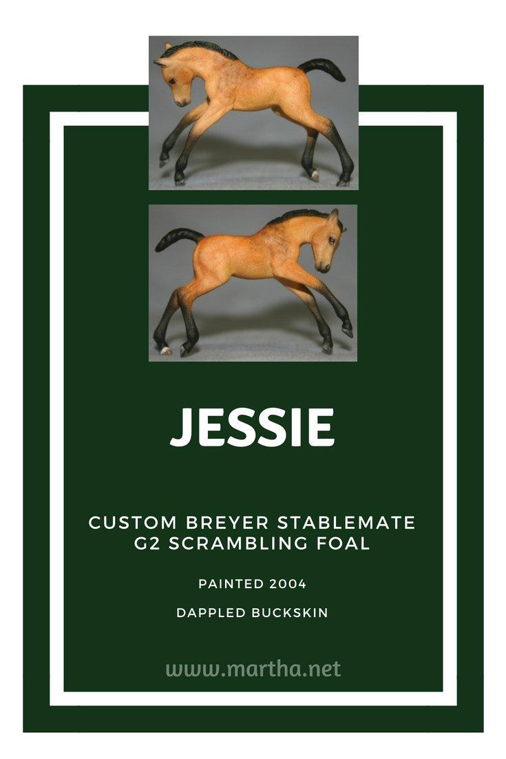 Jessie - Custom Breyer Stablemate G2 Scrambling Foal