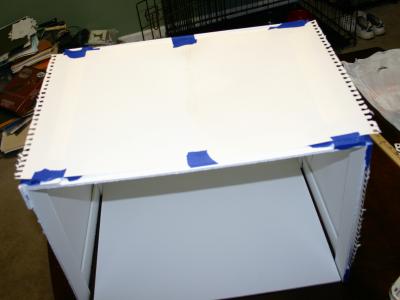 Homemade Lightbox - adding paper sides