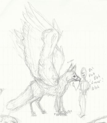 Foxhawk and Human Scale Sketch