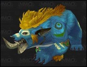 Troll Druid Bear Blue Yellow