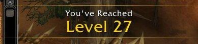 World of Warcraft Level 27