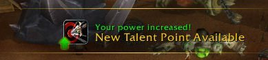Level 29 - New Talent Point