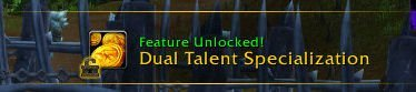 Level 30 - Dual Talent Specialization