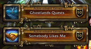 Achievment Ghostlands Quests and Somebody Likes Me