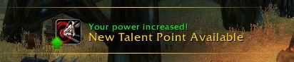 Level 25 - New Talent Point