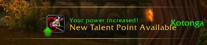 Level 33 - New Talent Point