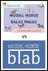Model Horse Sales Pages vs. Model Horse Blab