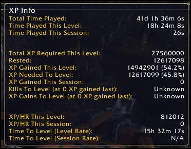 11-28-12 World of Warcraft Ashella XP Info