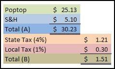 Poptop Sales Tax Calculation