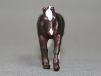 Slowroad's Silver - Custom Breyer Mini Whinnie Jog Trot Quarter Horse Mare - Martha Bechtel - Nose