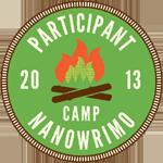 Camp NaNoWriMo 2013-Participant-Campfire-Circle-Badge