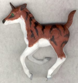 Double Take Left Scan - Custom Breyer Stablemate G2 Cantering Foal