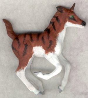 Double Take Right Scan - Custom Breyer Stablemate G2 Cantering Foal