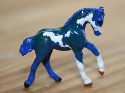 Shamrockstar - Custom Breyer Mini Whinnie Romping Foal - Martha Bechtel - Right