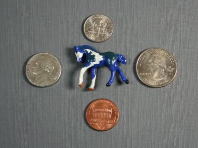 Shamrockstar - Custom Breyer Mini Whinnie Romping Foal - Martha Bechtel - Scale