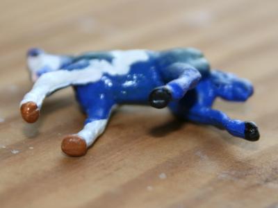 Shamrockstar - Custom Breyer Mini Whinnie Romping Foal - Martha Bechtel - Tummy