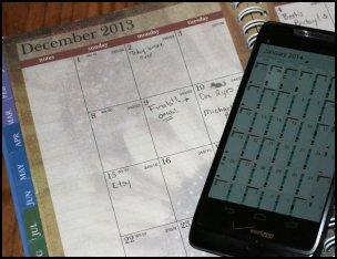 Dec 2013 - Jan 2014 Hardcopy to Google Calendar