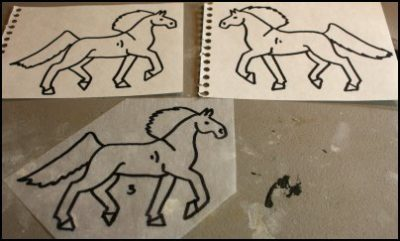 Final Result of the model horse template