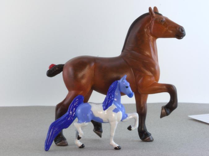 Custom Breyer Stablemate Mini Whinnie - Martha Bechtel - Pair
