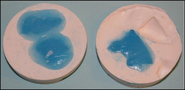 Casting Colored Silicone Caulk in Plaster Molds