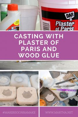 Casting with Plaster of Paris and Wood Glue