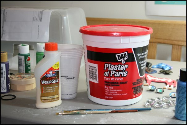 Materials Needed for Plaster of Paris and Wood Glue Casting
