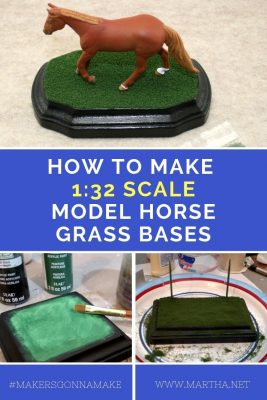 How to Make Breyer Stablemate 1:32 Scale Model Horse Grass Bases