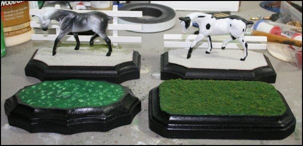 Model Horse Display Base Variations