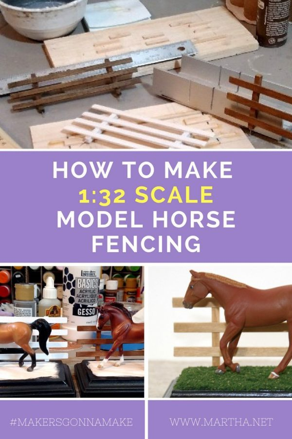 How to Make Breyer Stablemate 1:32 Scale Model Horse Fencing