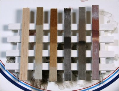 Variety of Stained and Aged Basswood and Balsa Wood Planks