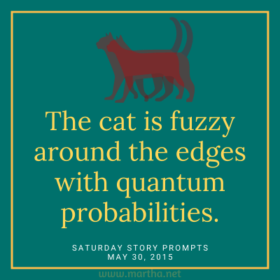 The cat is fuzzy around the edges with quantum probabilities. Saturday Story Prompt. May 30, 2015