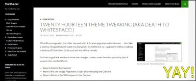 Twenty Fourteen Theme Image Alignment WIN
