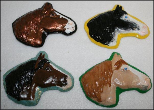 Four Draft Horseheads