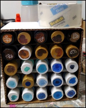 Cheap ways to store craft paint
