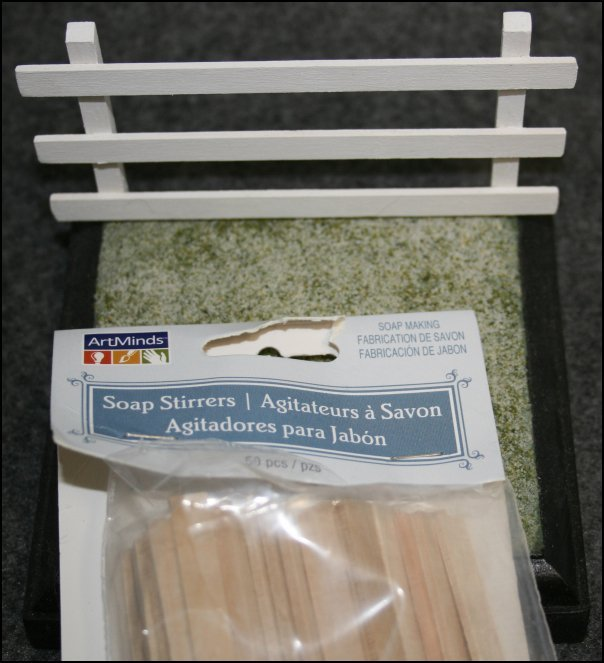 Using Soap Stirrers as Fence Rails Boards