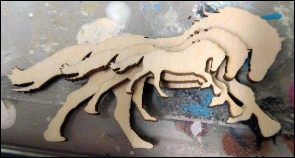 Wooden Draft Horse Cutouts