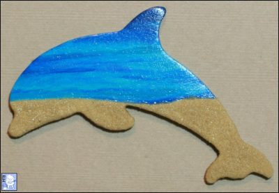 Wooden Dolphin #006