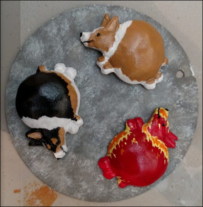 Handmade Resin Fat Pembroke Welsh Corgis #001-003