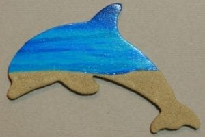 Wooden Dolphin Magnet 006