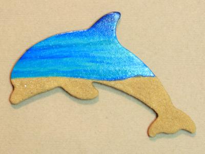 Wooden Dolphin Magnet 006 - Beach - Martha Bechtel - Gallery Image