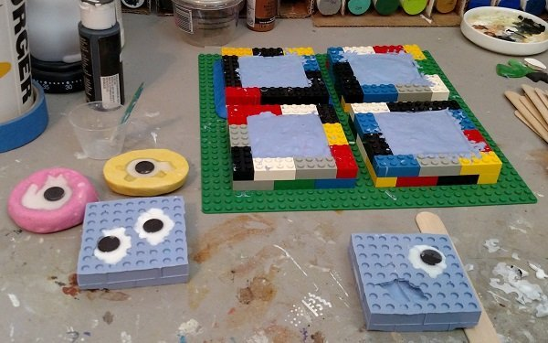Silicone molding and casting with Legos