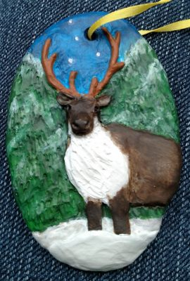 Reindeer Ornament 001 - Front