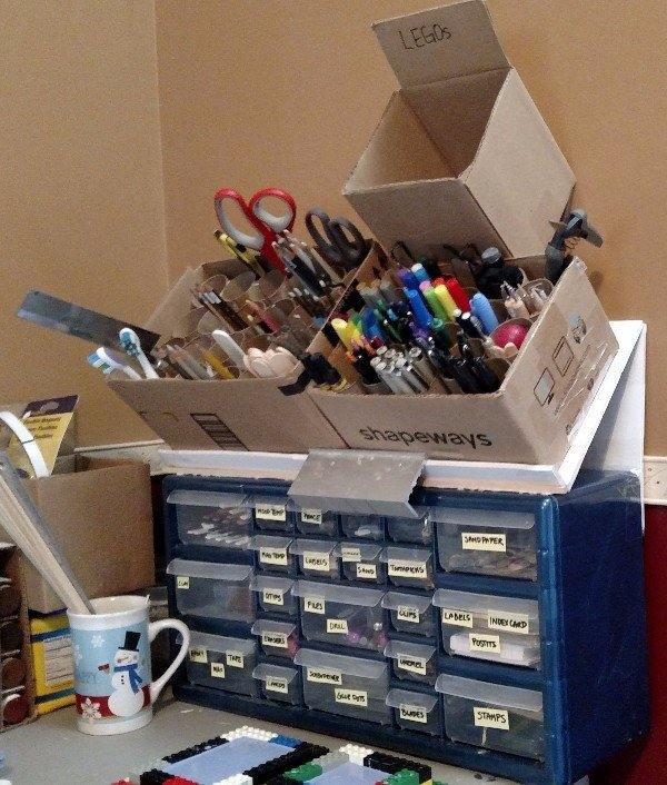 Storage Boxes and Tubes for Workbench