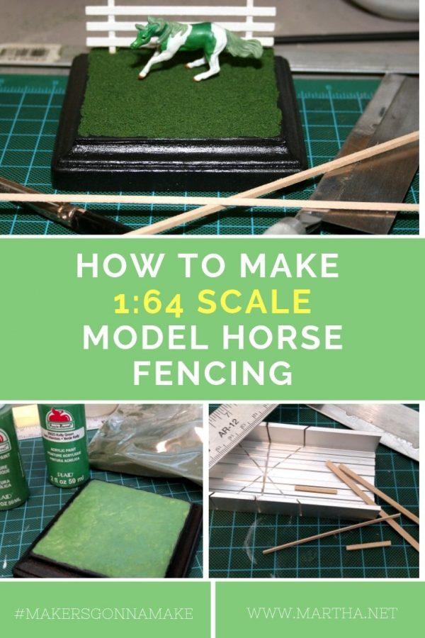 How to Make Breyer Mini Whinnie Micro Mini 1:64 Scale Model Horse Fencing