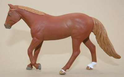 Ladybird - Custom Chestnut Dungaree Breyer Stablemate Model Horse